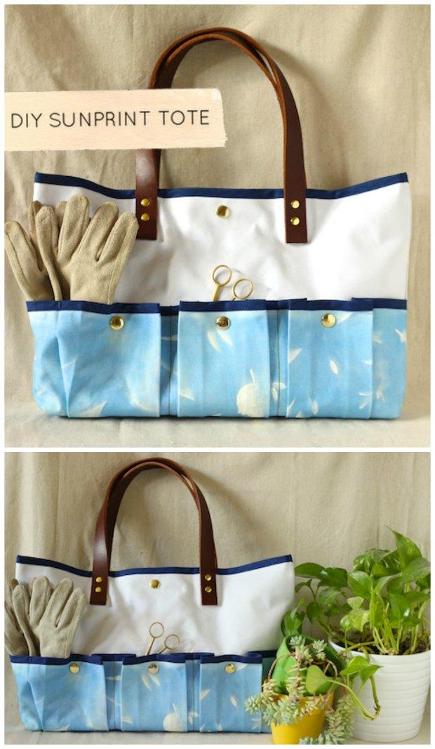 Sunprint Gardening Tote Bag FREE sewing pattern