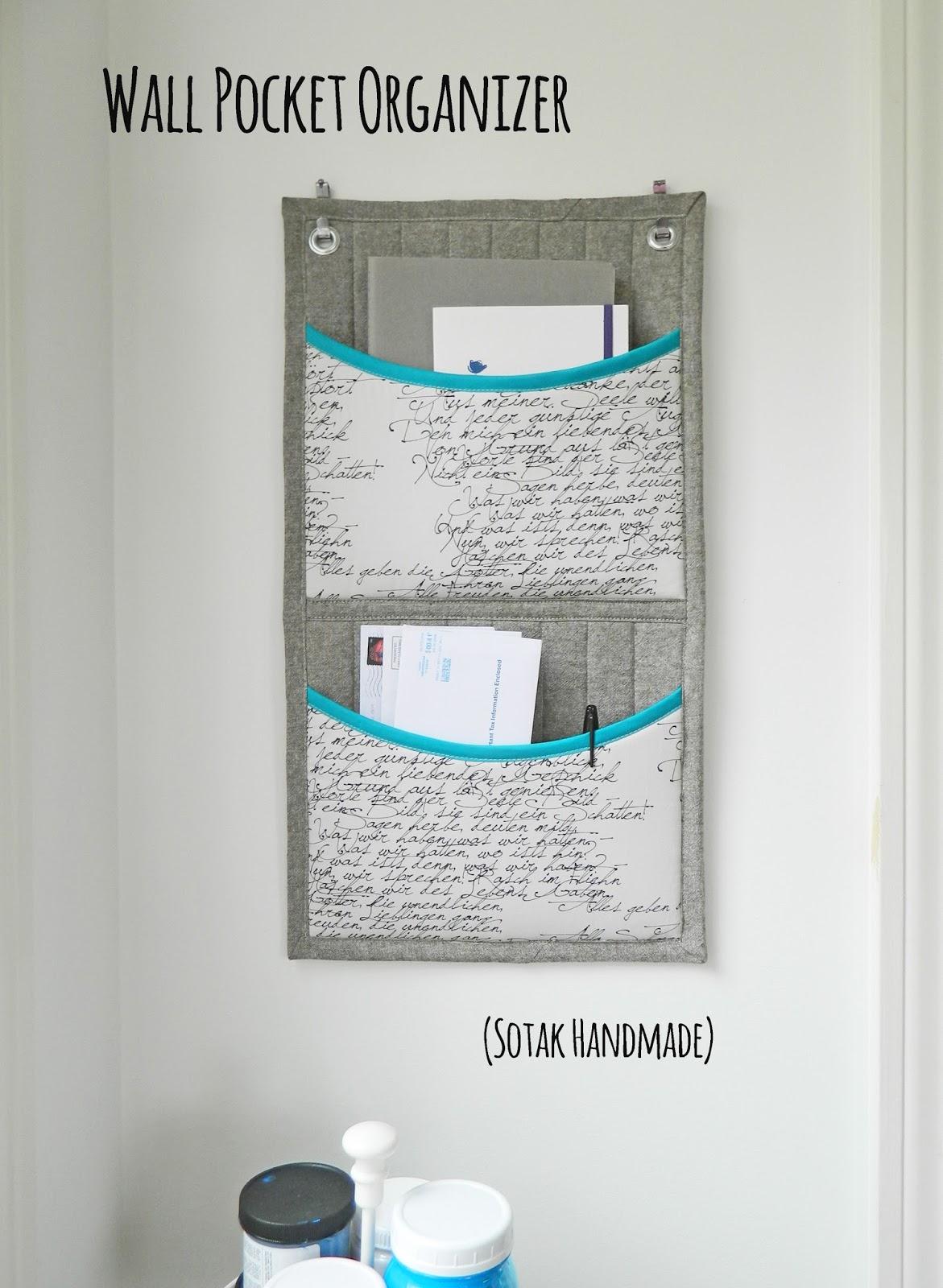 Wall Pocket Organiser FREE sewing pattern