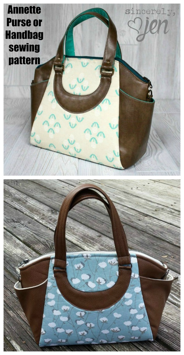 Annette Purse or Handbag sewing pattern