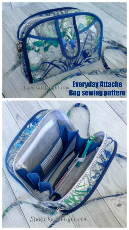 Everyday Attache Bag sewing pattern