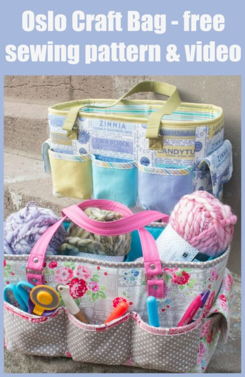 Oslo Craft Bag - free sewing pattern & video