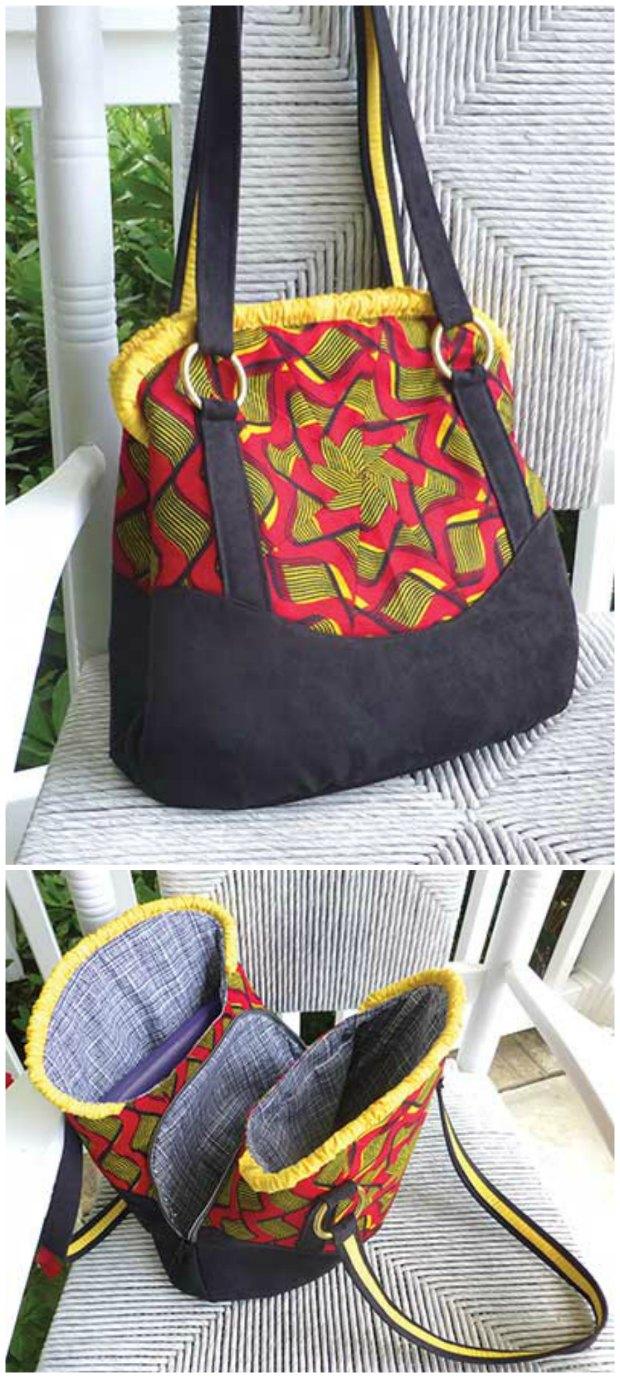 Triple Play Handbag sewing pattern.