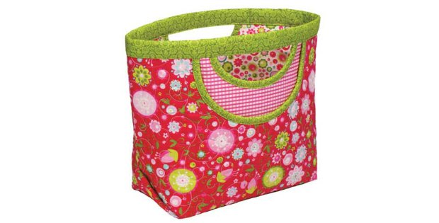 My favorite purse sewing pattern. Easy, cute, handy and no funky zips or closures to sew. Everyone loves these bags, and they sell really well. Purse or handbag sewing pattern.