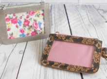 FREE card pouch sewing pattern. Make this versatile pattern with lots of different materials