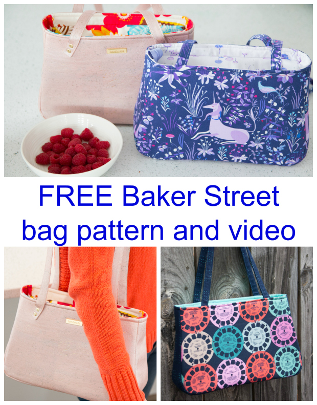 Baker Street Bag FREE sewing pattern and video