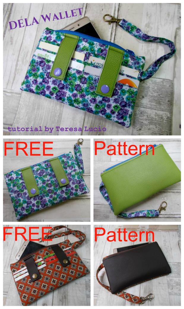 Dela Wallet FREE sewing pattern.