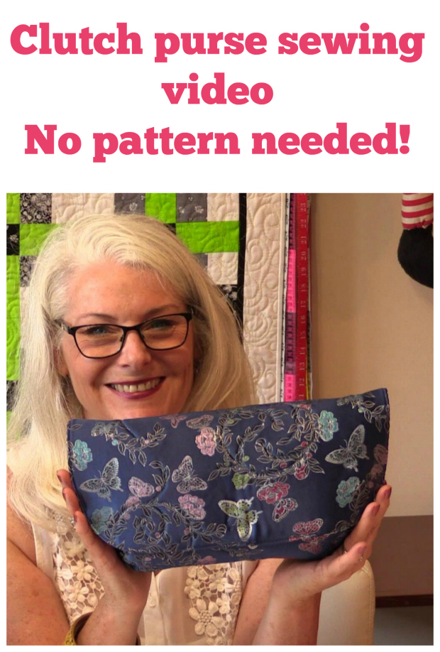 Sew a designer style clutch bag FREE sewing video.