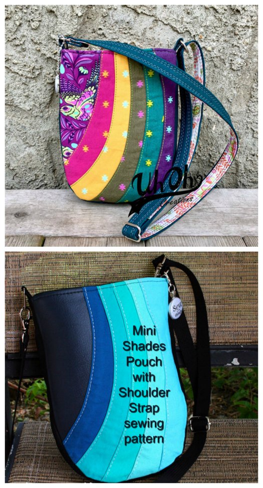 Mini Shades pouch with shoulder strap
