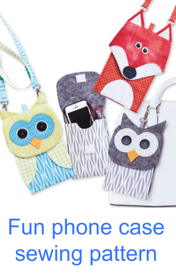 Fun animal phone case sewing pattern