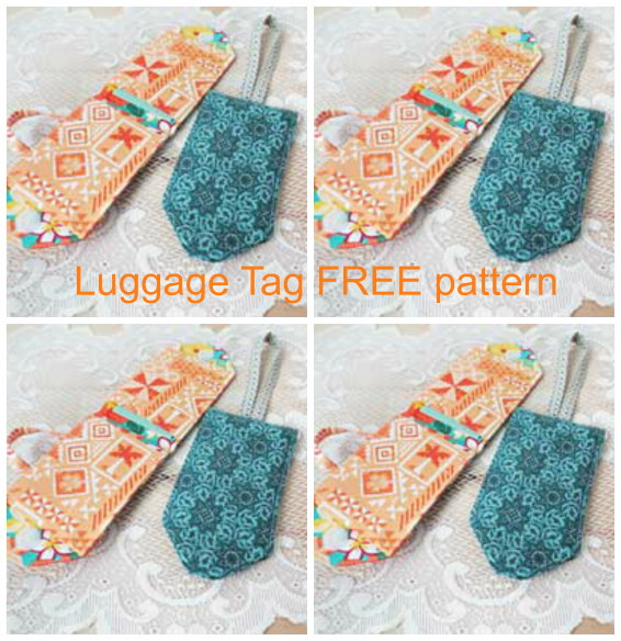 Fabric Luggage Tags FREE sewing pattern