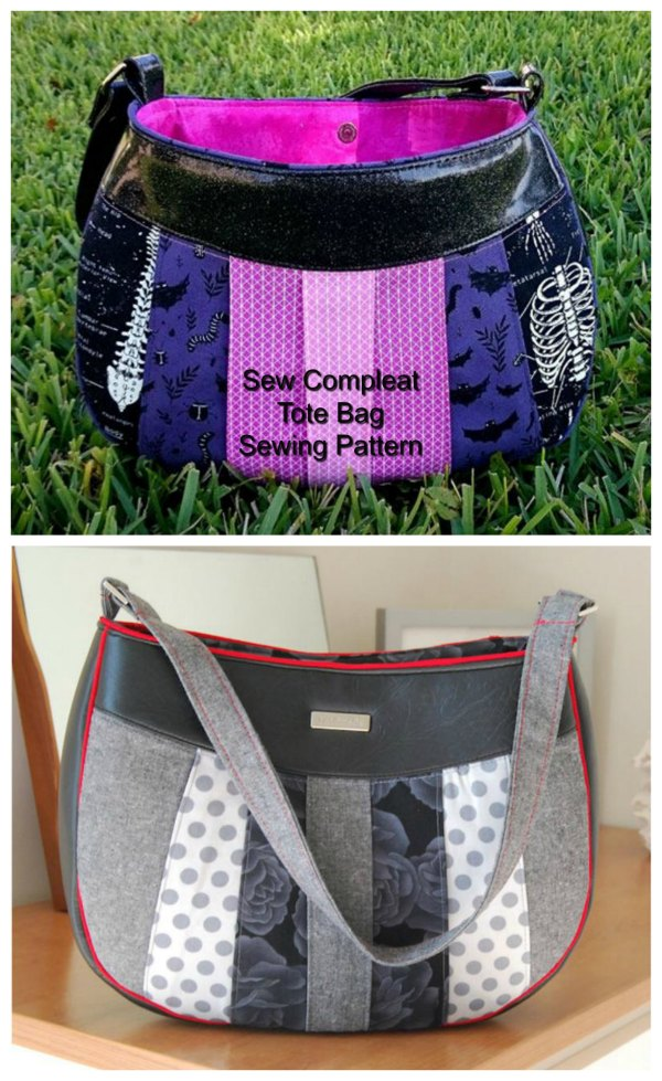 This is an absolutely fabulous shoulder tote bag with single shoulder strap and large inner zipper pocket. With the Sew Compleat Shoulder Tote pattern, you can use up loads of your fabric scraps that you've kept back for that awesome project you've been waiting for. The outer pleating allows you to create a beautifully textured effect.