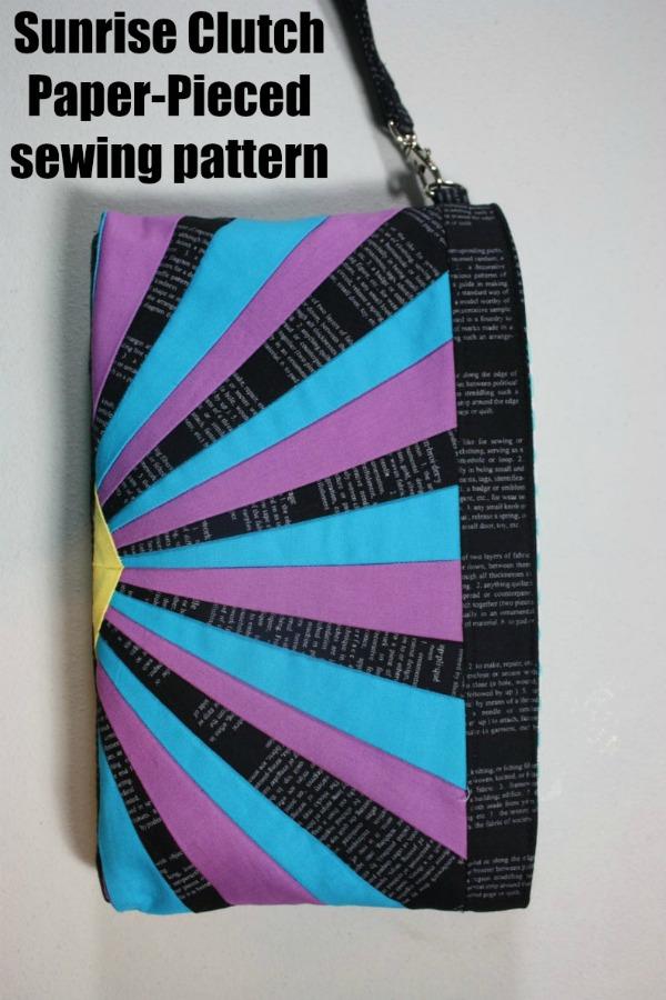 Sunrise Clutch Paper-Pieced sewing pattern