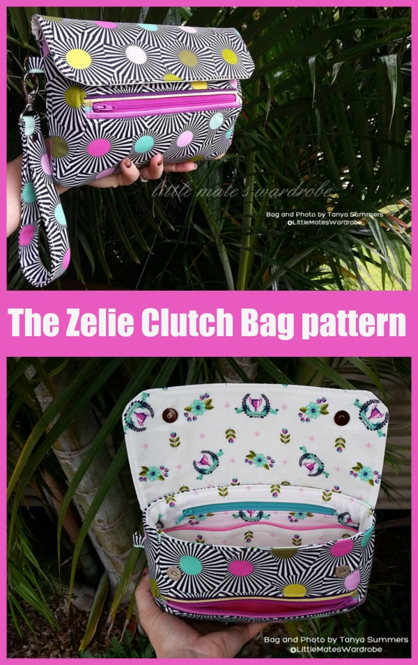 The Zelie Clutch Bag sewing pattern