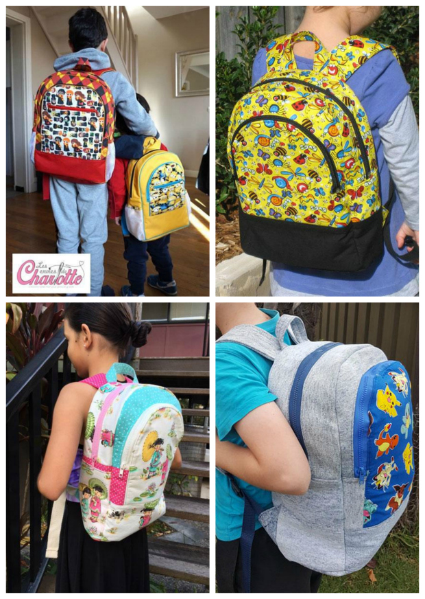 Adventure Time backpack sewing pattern