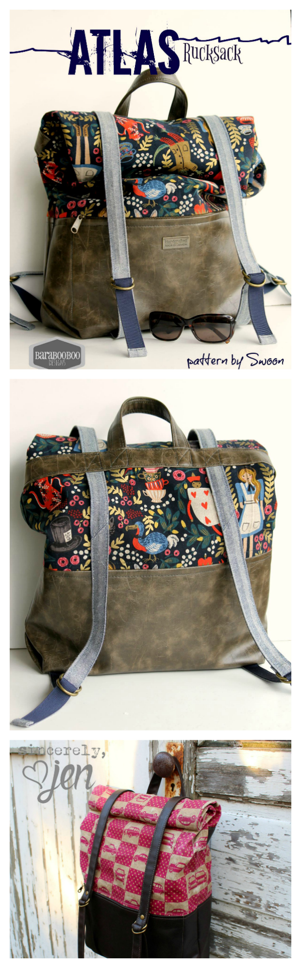 Atlas Rucksack / Backpack sewing pattern.
