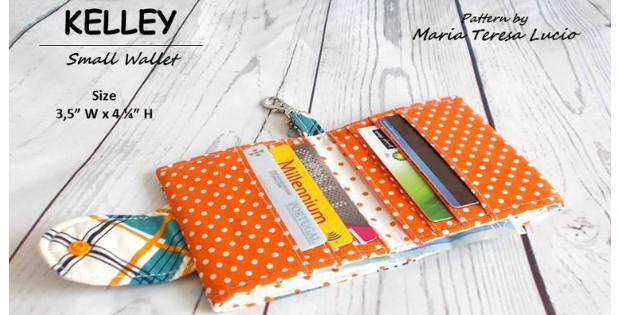 Kelley Small Card Wallet Sewing Pattern Perfect For