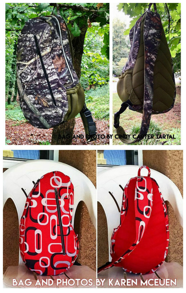 The Teardrop Sport Crossbody Backpack / Sling Bag sewing pattern