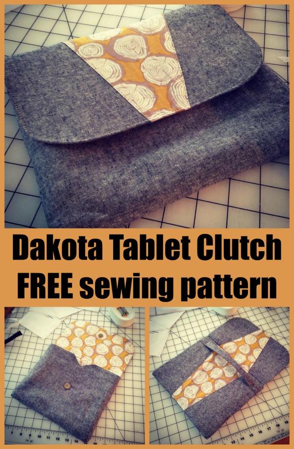 Dakota Tablet Clutch FREE sewing pattern