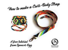 """Here's a great FREE tutorial on how to make a detachable and adjustable bag strap. The tutorial includes three pages of full-colour tutorial style instructions with detailed photos. It will take you no time at all to read through the tutorial and make a professional looking bag strap that will have approximate finished dimensions of 47"""" by 0.75""""."""