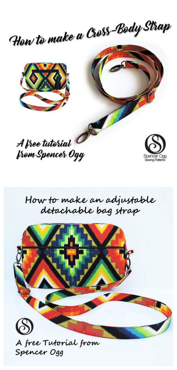 How to make an adjustable bag strap - FREE sewing tutorial