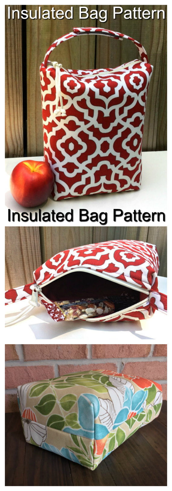 Insulated Lunch Bag sewing pattern.