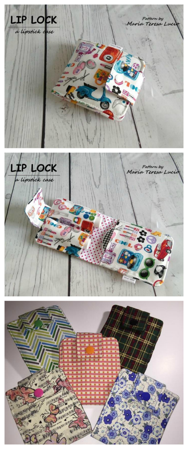 Lip Lock Lipstick case sewing pattern