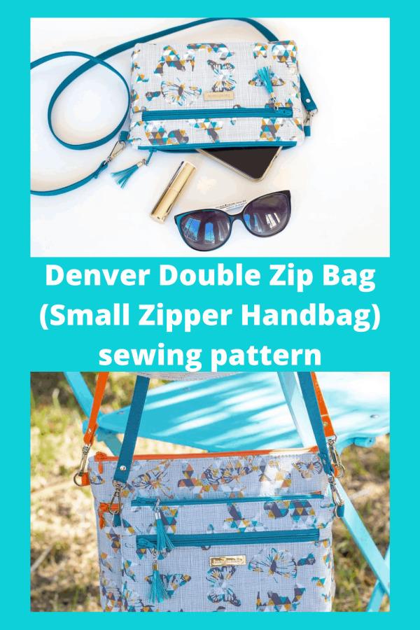 Denver Double Zip Bag (Small Zipper Handbag) sewing pattern