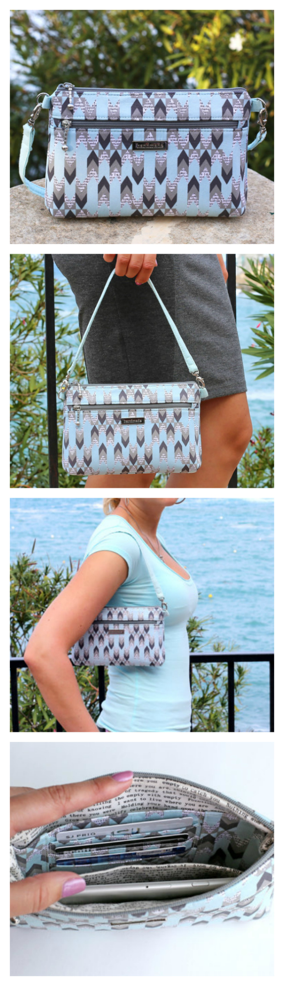 Denver Double Zip Bag (Small Zipper Handbag) sewing pattern