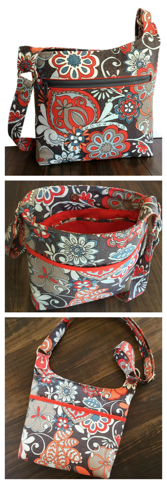 "This Hipster Purse is named The Vanessa Bag. With its slim, lightweight crossbody design this purse accommodates all of your essentials without weighing you down. The Vanessa Bag has many features, as follows: The strap adjusts for a perfect fit from a 25"" shoulder bag all the way to 50"" to be carried as a cross body bag. The large front zippered pocket is 9"" deep by 10"" wide. The back of the purse has a roomy slip pocket that measures 11.5"" wide by 7"" deep and fitted with a magnetic snap closure. It's fully lined with two interior slip pockets at 6"" by 6"" each. It has heavy interfacing for strength and support but very soft and comfortable to carry. A 1.25"" wide strap is comfortable to carry and extends all the way to 50"". A magnetic snap closure. Dimensions of 11.5"" wide by 10"" high by 2"" deep."