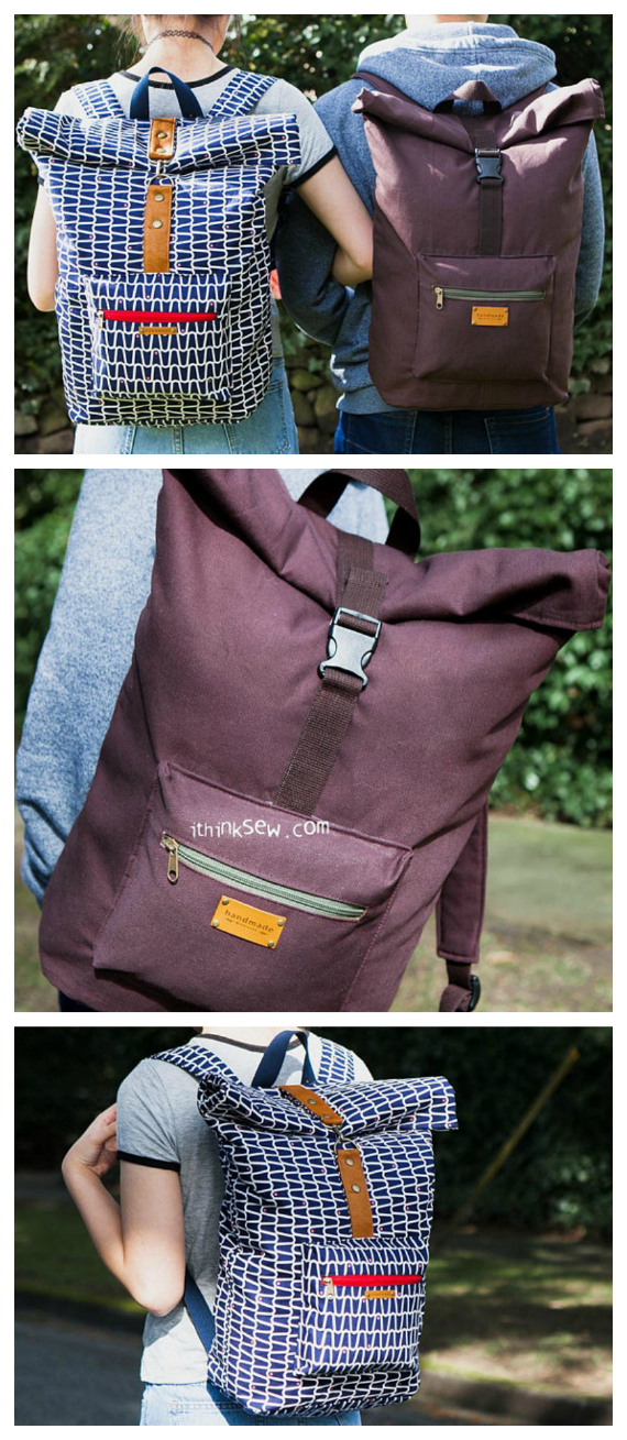 "The Roxanne Rolltop Backpack is an awesome backpack that was created for men, women and children. It's a unisex bag that is specially designed for students and travellers. The pocket space is so big and organised that you can easily pack the bag with all your school essentials like laptops, books and more. The approximate size of the finished backpack is 14"" wide by 16"" high by 7"" deep."