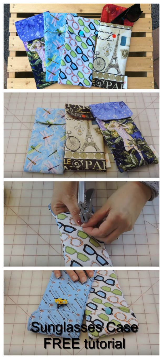 10 Minute Sunglasses Case FREE sewing video