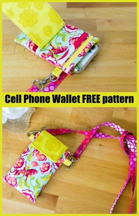Cell Phone Wallet FREE sewing pattern