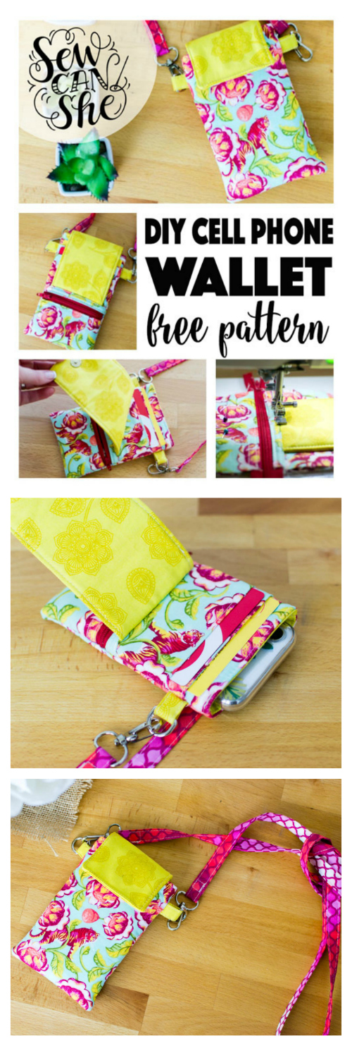 Here's a great FREE pattern to make a Cell Phone Wallet. Sometimes in life, you want to carry a purse - when you think you might need all that stuff you've got saved in there - and sometimes all you need is your phone and a couple cards. For all those times when all you just need your phone and a couple cards, then this is the wallet for you.