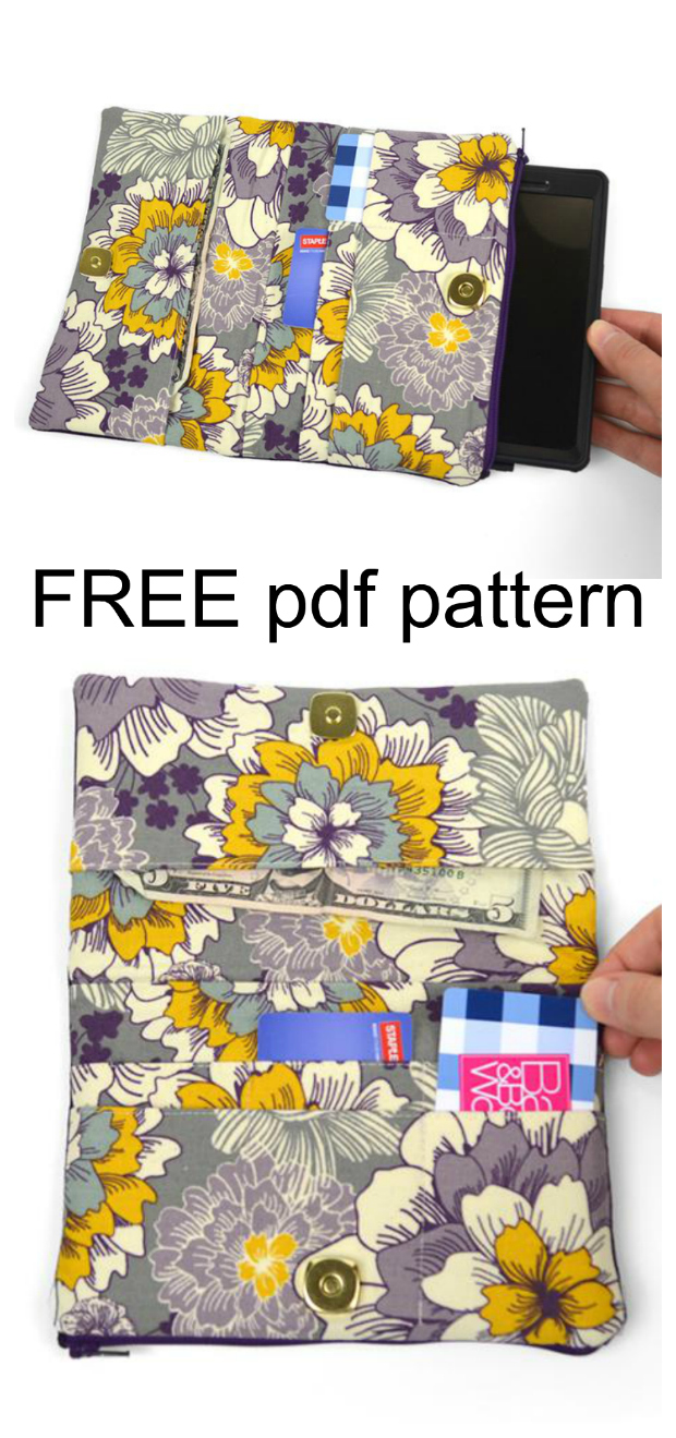 Cute kitty wallet FREE sewing pattern
