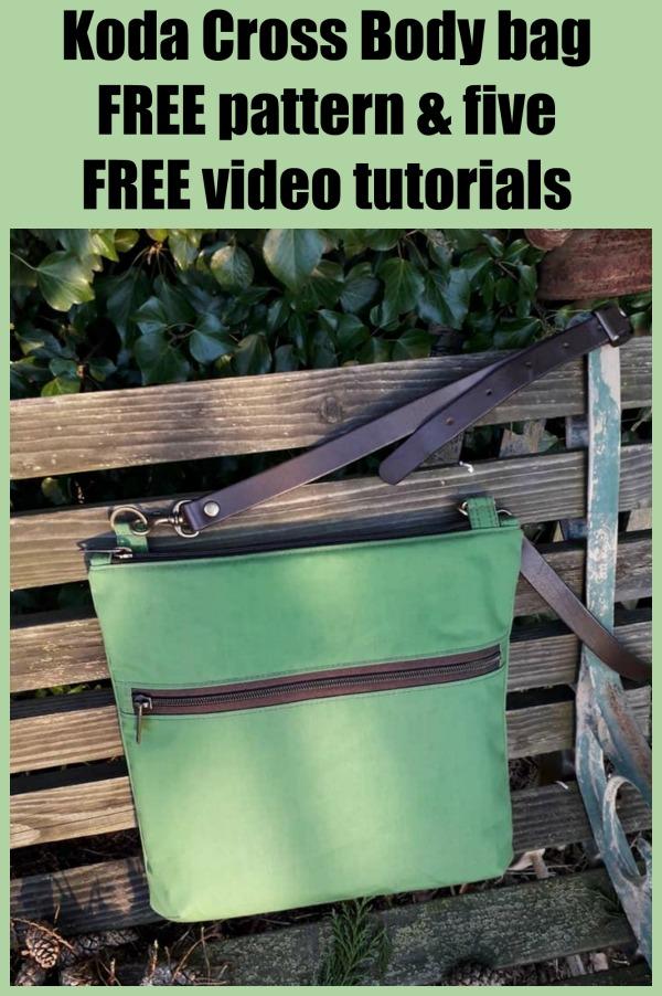 Koda Cross body bag - FREE pattern & five FREE video tutorials