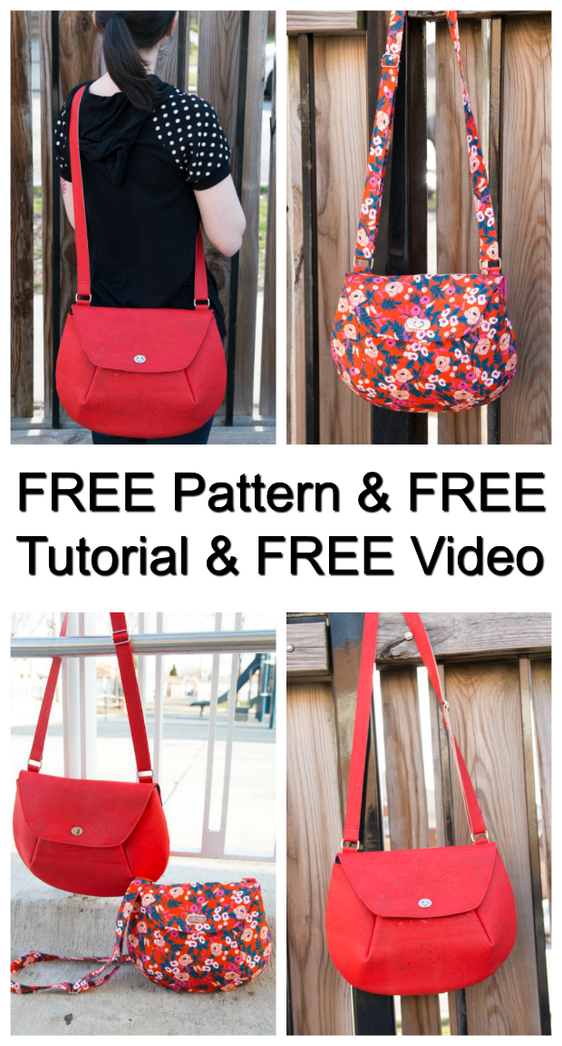 "With this Crossbody Bag you get so much help it's amazing and it's all FREE. With the Oriole Crossbody bag, you get a FREE pattern, together with a FREE tutorial and a FREE ""how to"" video to watch."