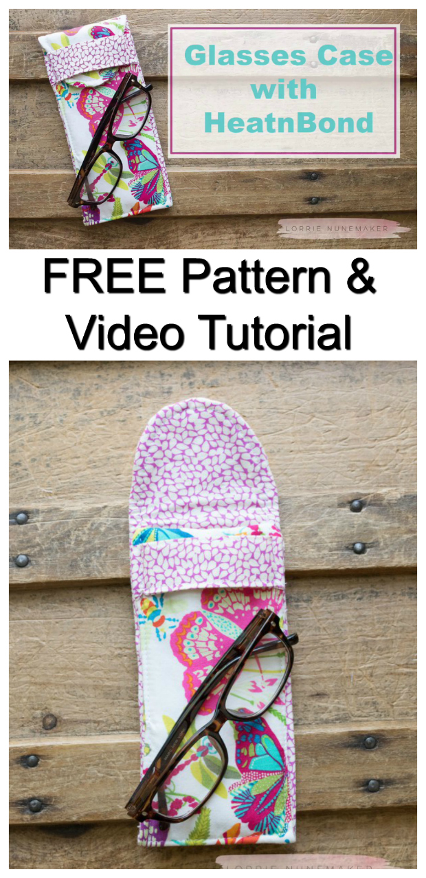 Here's a really simple and quick to sew Sunglasses Case with HeatnBond fusible fleece. This stylish case comes with a FREE pdf pattern and a FREE step by step video tutorial.