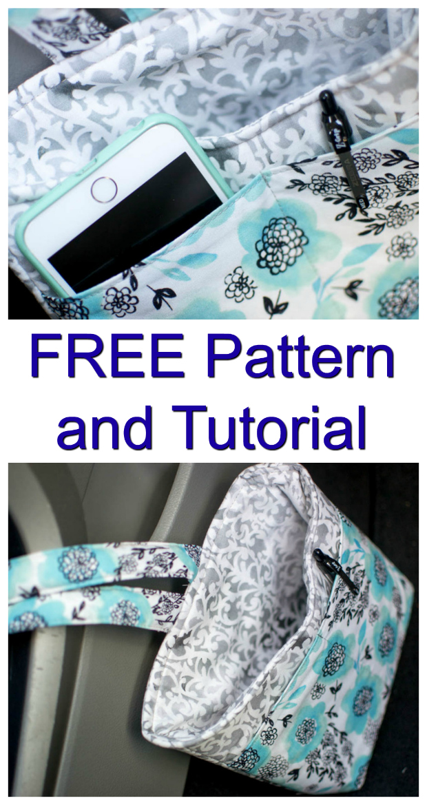 Car Diddy Bag | Organiser and storage for your car - FREE sewing pattern