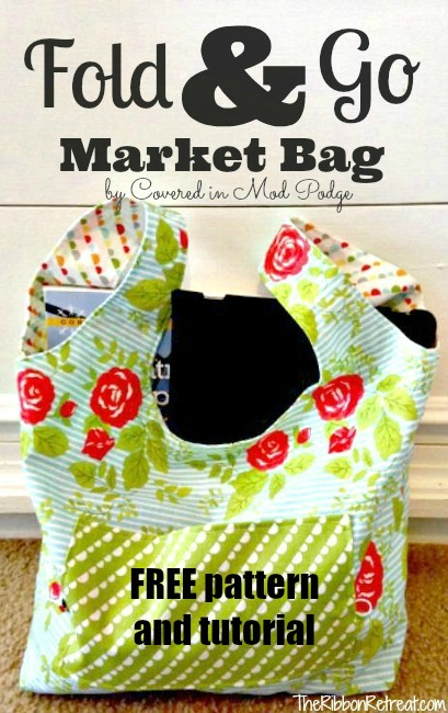 Fold and Go Market bag FREE pattern and tutorial
