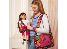 It's always great to give a gift to your daughter or granddaughter but here we have a project where you can work with her to make a wonderful bag for her and a matching bag for her doll. So why not download this pattern and make matching girl and doll messenger bags. We know you'll love making these sweet messenger bags with your own choice of fabrics!