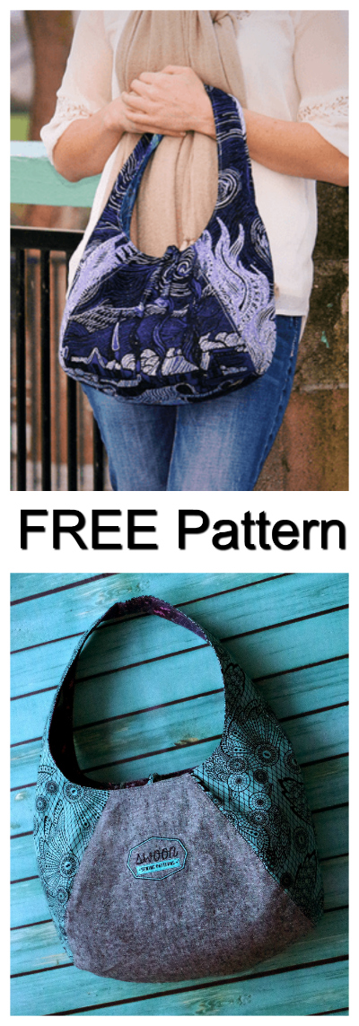"If you are new to sewing then this is a great place to start. The Laney Reversible Hobo Bag is easy to sew and the pattern is FREE. The finished size of the bag is 15"" wide by 10"" tall by 6"" deep."