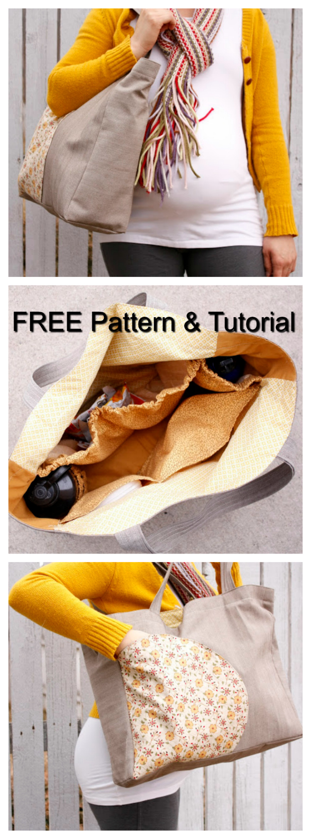 Let's Go To The Park Bag FREE sewing pattern & tutorial