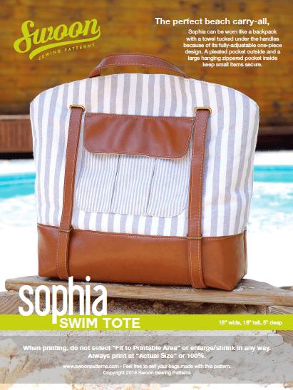 Sophia Swim Tote Bag sewing pattern