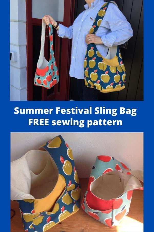 Summer Festival Sling Bag FREE sewing pattern