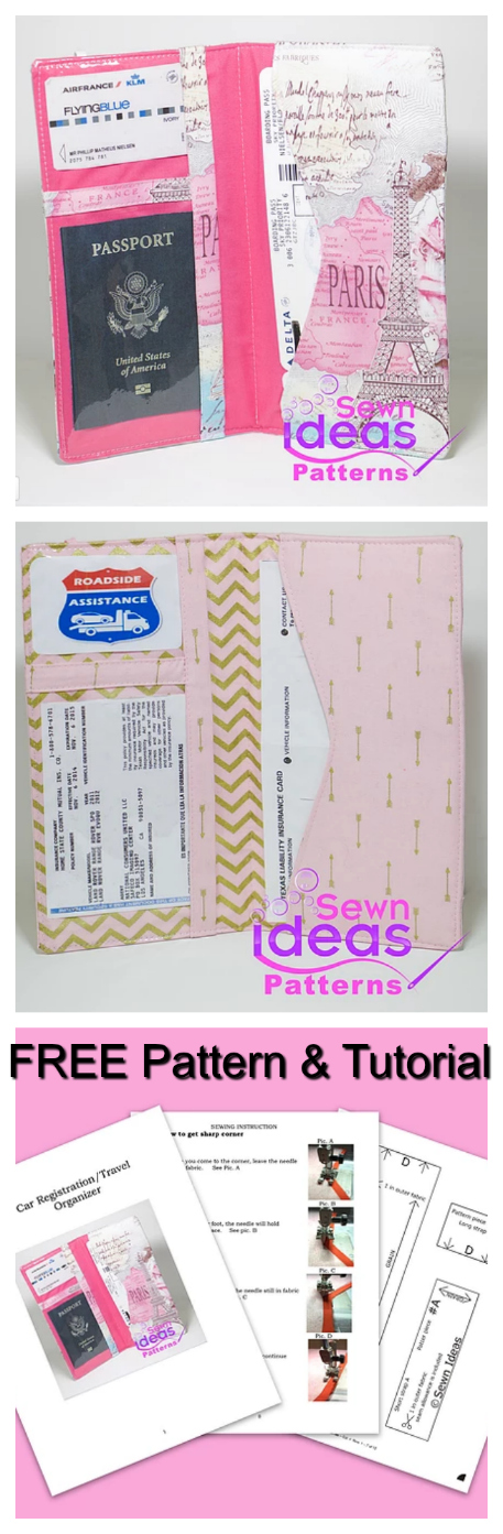 Travel documents wallet - FREE Pattern & Tutorial