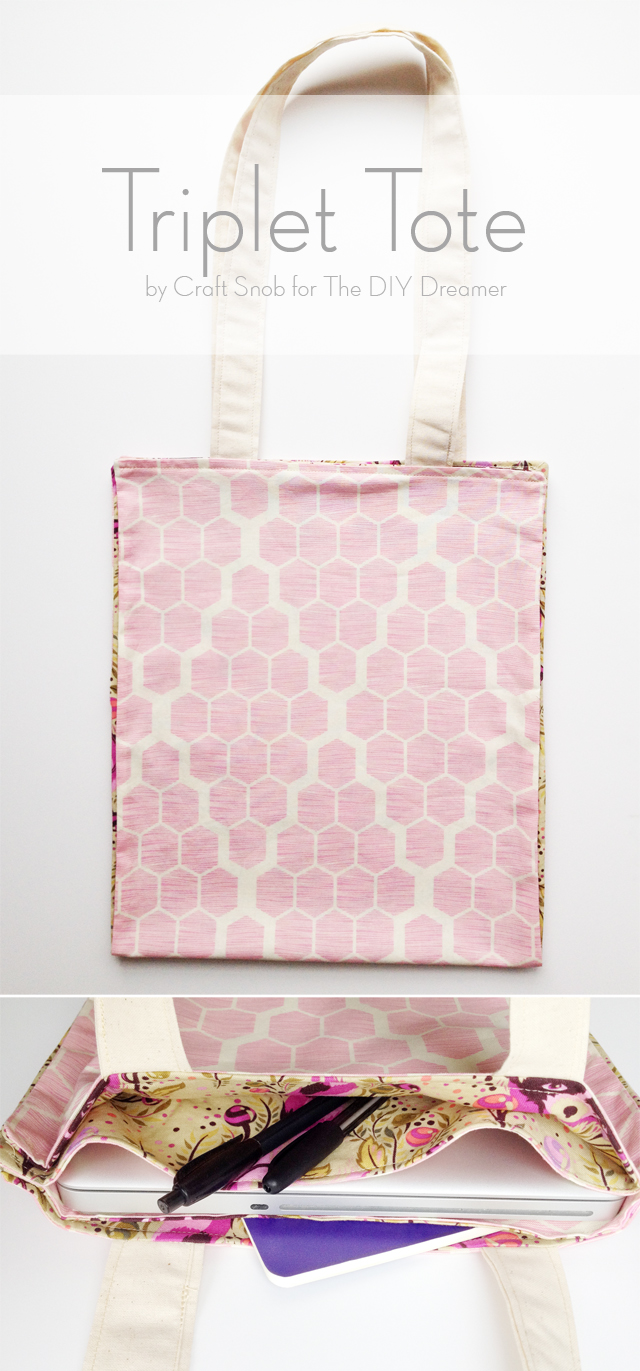 The Triplet Tote Bag FREE sewing pattern & tutorial
