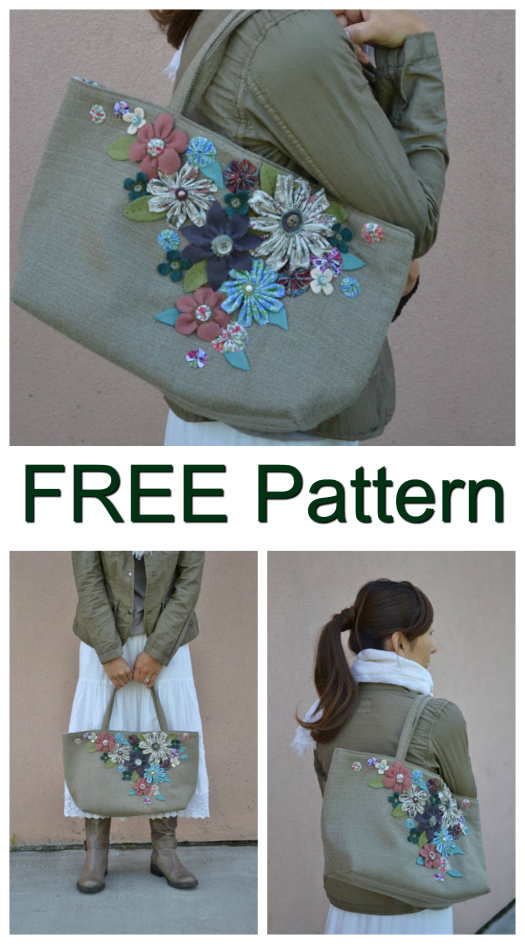 She Carries Flowers Purse FREE sewing pattern