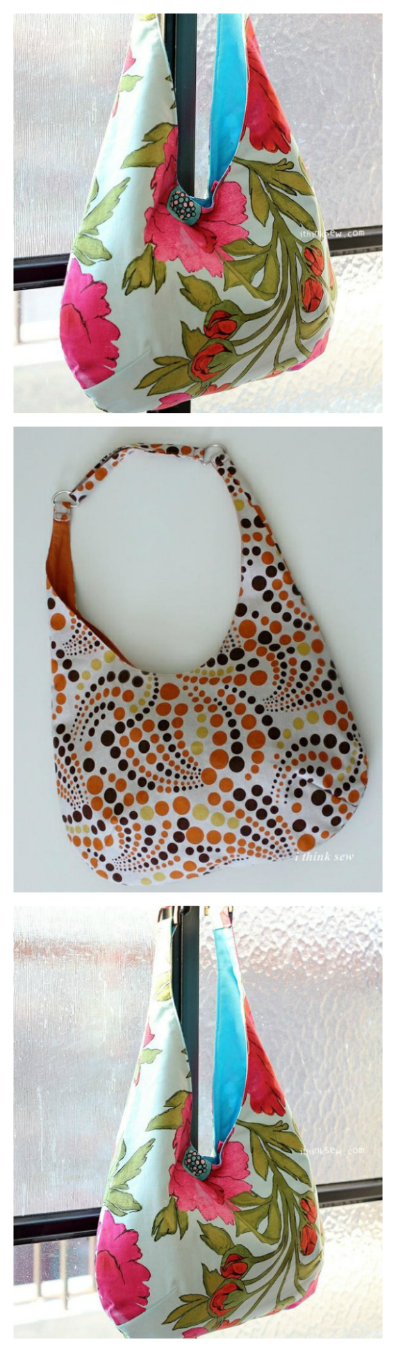 The Marsha Bag is an awesome shoulder bag/purse, designed by a fantastic designer and available here for a confident beginner to tackle. The Marsha Bag has a unique dart on the bottom giving it the much needed extra space we all need.
