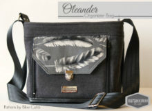 The Oleander Organizer bag is a cross body bag with an amazing built-in wallet on the front exterior.