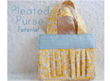 If you have never made a purse with pleats before then this is a great project to get you going. This Pleated Purse is designed for smaller children but you can always upsize it and best of all the tutorial and pattern are FREE.